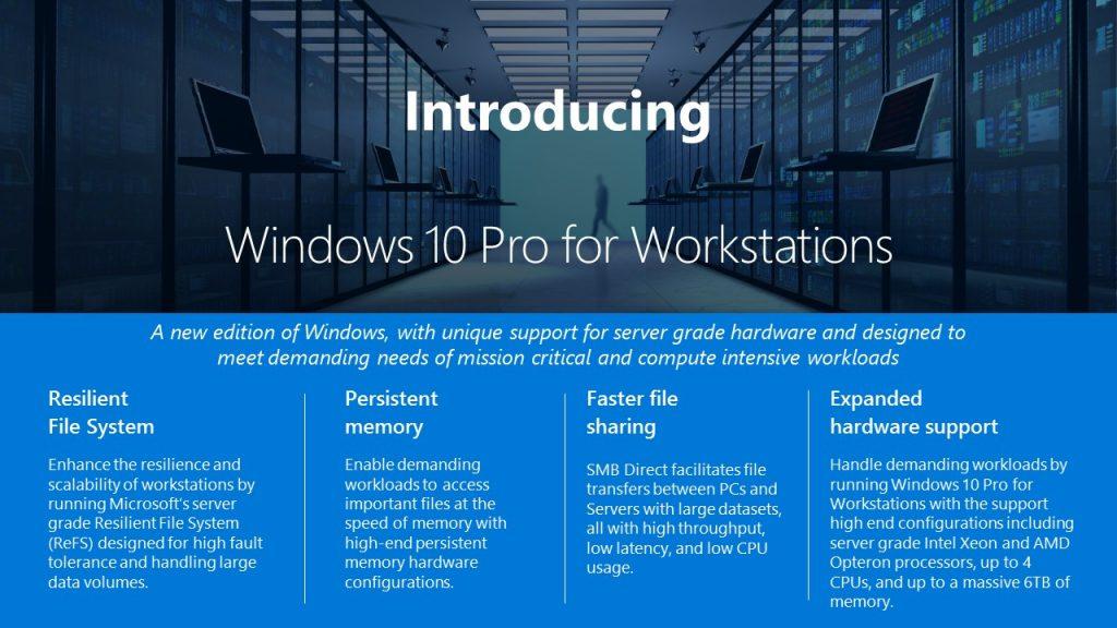 لایسنس ویندوز 10 پرو ورک استیشن-Windows 10 Pro Workstation