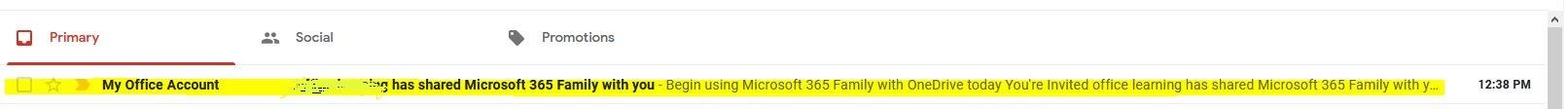 ایمیل دعوتنامه آفیس 365