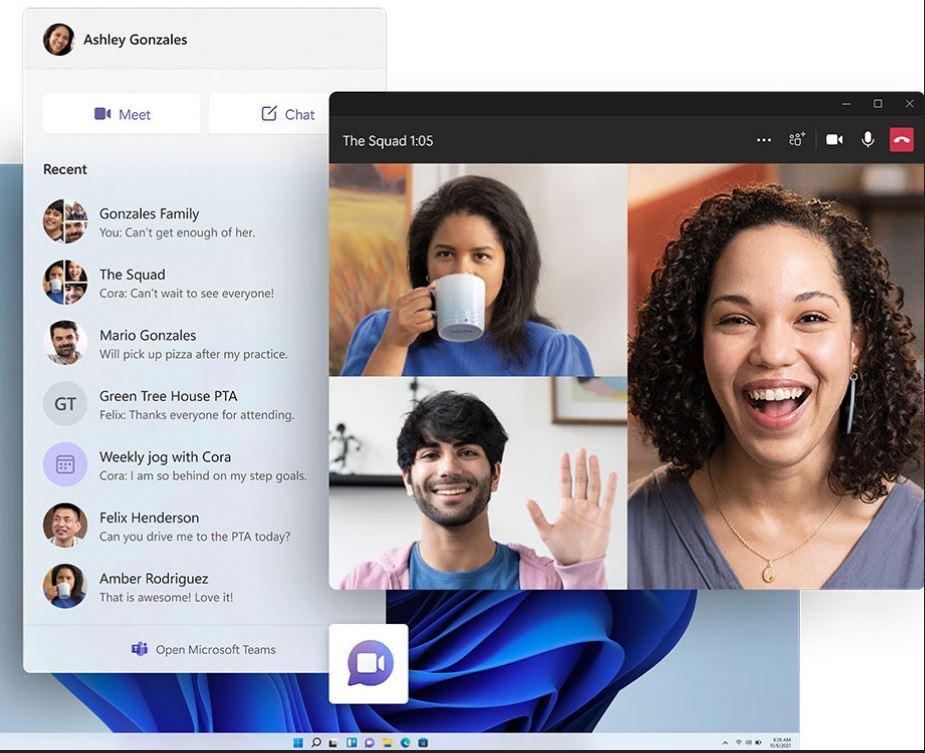 یکپارچه شدن مایکروسافت تیمز و ویندوز 11